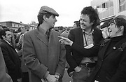 Dave Robinson with Paul Conroy and Sonny Rae - Stiff Records day at the Races 1978