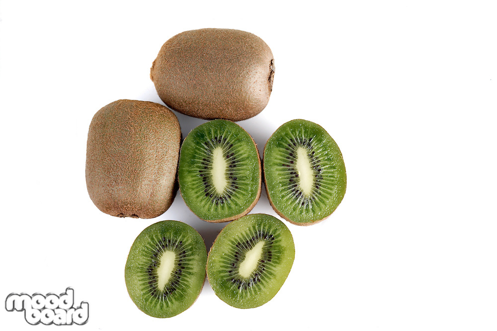 Close up of kiwi on white background