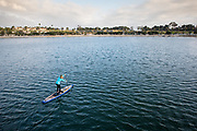Caitlin Looby @caitlooby paddling in Newport's Back Bay.