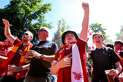 Liverpool fans in the fan park ahead of the Champions League Final against Real Madrid - Mandatory by-line: Robbie Stephenson/JMP - 26/05/2018 - FOOTBALL - Olympic Stadium - Kiev,  - Real Madrid v Liverpool - UEFA Champions League Final