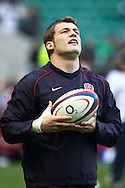 6 Feb 2010 Twickenham, England: Mark Cueto of England warms up before the start of the Six Nations match between England and Wales. Photo © Andrew Tobin www.slikimages.com