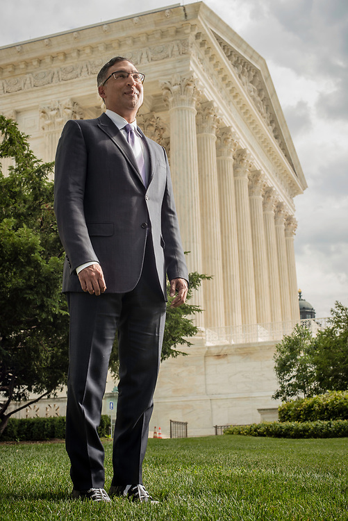 WASHINGTON, DC -- 8/10/17 -- Supreme Court lawyer Neal Katyal is one of the leading attorneys for the state of Hawaii as they fight President Trump's travel ban. Katyal, now an attorney with Hogan Lovells, and former Acting Solicitor General, has argued more cases before the Supreme Court, 34, than any other minority attorney except Thurgood Marshall, with whom he's currently tied..…by André Chung #_AC13919