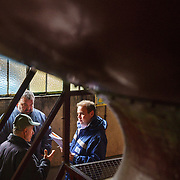 Bertrand Gazeau (R) at Martell Cognac, the region's oldest great house, visits a grower-distiller. Martell works with 1,200 suppliers across the Cognac region and supplies its luxury spirits around the world, especially in the USA and China.In 1715, Jean Martell, a young merchant originally from Jersey, created his own trading business at Gatebourse in Cognac, on the banks of the Charente River, and thus founded one of the very first cognac houses. Martell used grapes from the vineyards in the Borderies subregion, and used Tronçais oak for its casks, this made a combination that resulted in an exceptionally smooth cognac.
