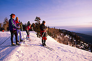 Cross-country skiers looking into distance from East Rim Viewpoint, No. Rim Nordic Ctr., Grand Canyon National Park, Arizona..Media Usage:.Subject photograph(s) are copyrighted Edward McCain. All rights are reserved except those specifically granted by McCain Photography in writing...McCain Photography.211 S 4th Avenue.Tucson, AZ 85701-2103.(520) 623-1998.mobile: (520) 990-0999.fax: (520) 623-1190.http://www.mccainphoto.com.edward@mccainphoto.com.