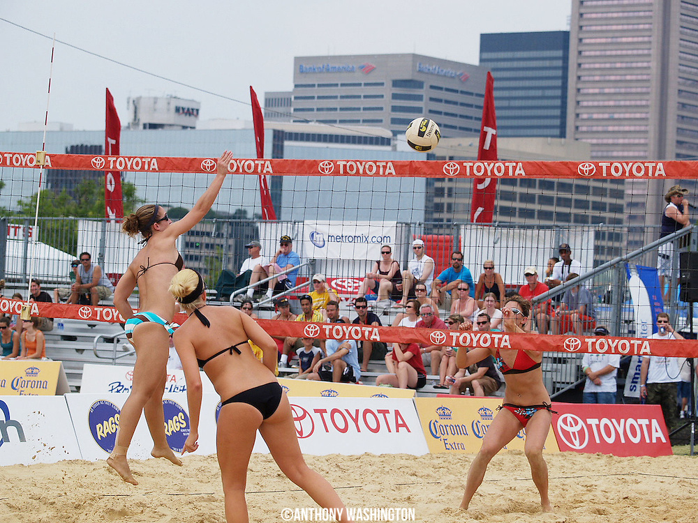 Toyota Pro Beach East Volleyball Tour at the Inner Harbor in Baltimore, MD on Saturday, July 12, 2008.