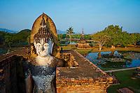 Thailande, province de Sukhothai, parc archeologique de Sukhothai, Wat Mahatat // Thailand, Sukhothai, Sukhothai Historical Park, Wat Mahatat