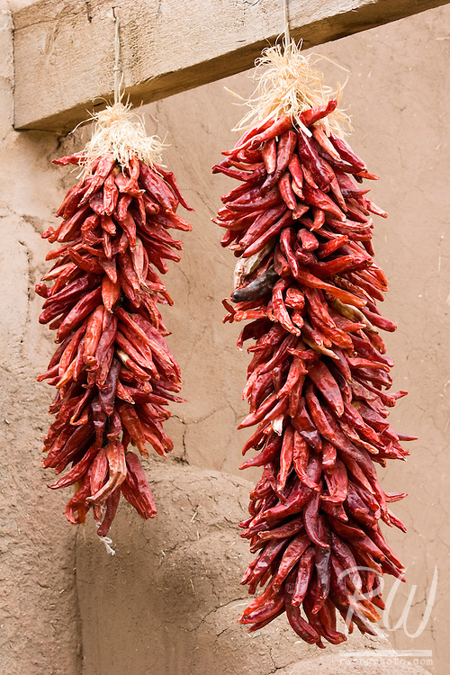 Hanging Red Chilis, Taos Pueblo, New Mexico