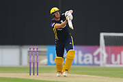 Kyle Abbott of Hampshire batting during the Royal London One Day Cup match between Hampshire County Cricket Club and Middlesex County Cricket Club at the Ageas Bowl, Southampton, United Kingdom on 23 April 2019.