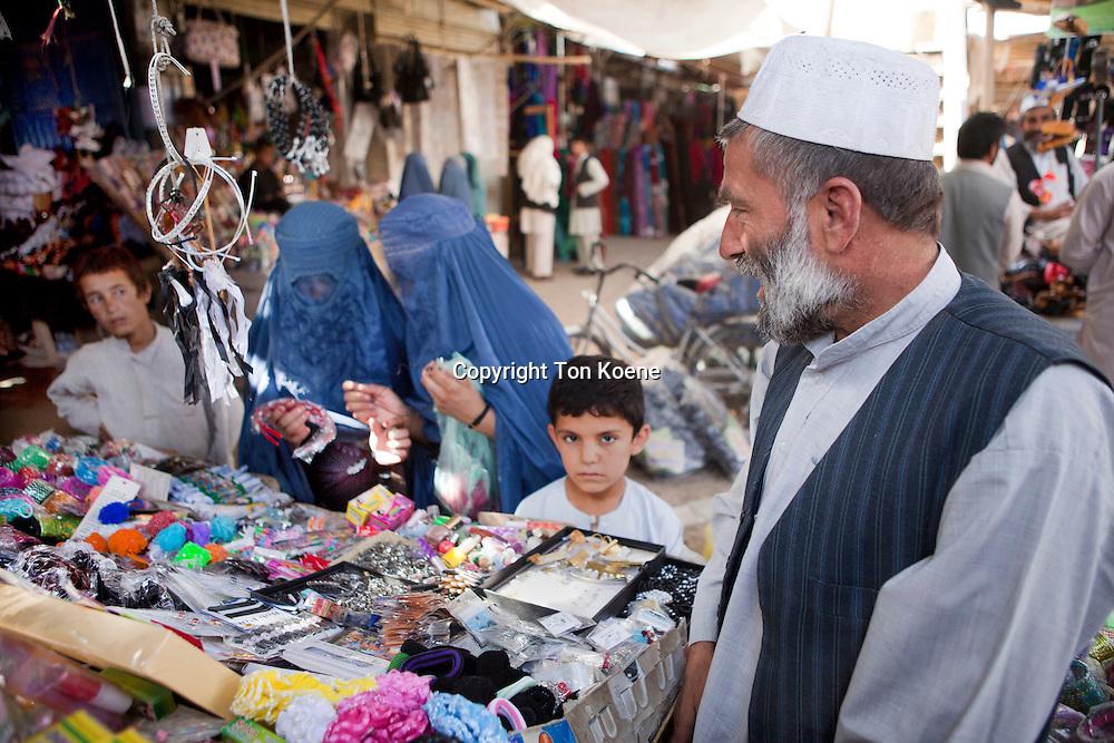 Bazaar in downtown Kunduz city, Afghanistan