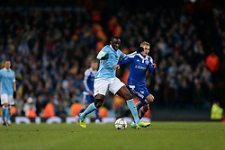15.03.2016, Etihad Stadium, Manchester, ENG, UEFA CL, Manchester City vs Dynamo Kiew, Achtelfinale, Rueckspiel, im Bild toure yaya, buyalsky vitaliy // during the UEFA Champions League Round of 16, 2nd Leg match between Manchester City and FC Dynamo Kyiv at the Etihad Stadium in Manchester, Great Britain on 2016/03/15. EXPA Pictures © 2016, PhotoCredit: EXPA/ Pressesports/ MARTIN RICHARD<br /> <br /> *****ATTENTION - for AUT, SLO, CRO, SRB, BIH, MAZ, POL only*****