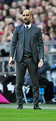16.04.2016, Allianz Arena, Muenchen, GER, 1. FBL, FC Bayern Muenchen vs Schalke 04, 30. Runde, im Bild Trainer Josep Pep Guardiola FC Bayern Muenchen // during the German Bundesliga 30th round match between FC Bayern Munich and Schalke 04 at the Allianz Arena in Muenchen, Germany on 2016/04/16. EXPA Pictures © 2016, PhotoCredit: EXPA/ Eibner-Pressefoto/ Weber<br /> <br /> *****ATTENTION - OUT of GER*****