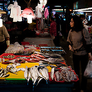 Seafood for sale at Zhiyou Evening Market, Kaohsiung City, Taiwan