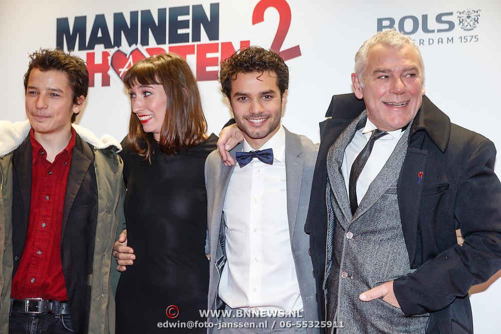 NLD/Amsterdam/20151214 - Film premiere Mannenharten 2, Hans Dagelet, Mingus Dagelet en ......