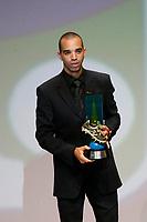 "20091207: RIO DE JANEIRO, BRAZIL - Brazilian Football Awards 2009 (""Craque Brasileirao 2009""), held at the Museum of Modern Art in Rio de Janeiro. In picture: Diego Tardelli (Atletico-MG) - Best goalscorer. PHOTO: CITYFILES"