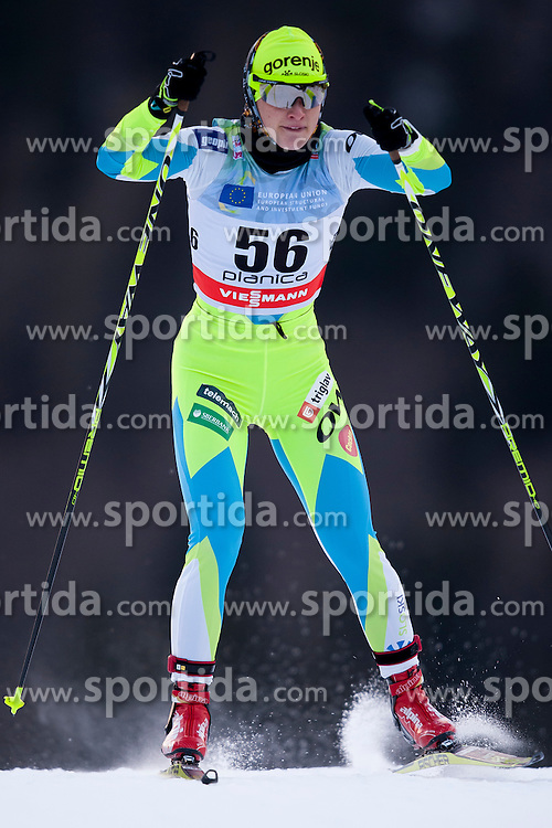 Manca Slabanja of Slovenia during Ladies 1.2 km Free Sprint Qualification race at FIS Cross Country World Cup Planica 2016, on January 16, 2016 at Planica, Slovenia. Photo By Urban Urbanc / Sportida