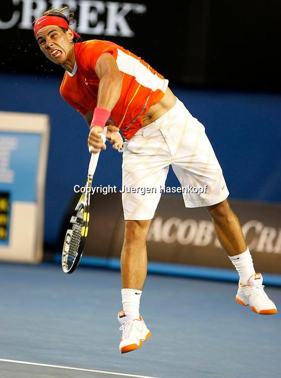 Australien, Melbourne, Sport, Tennis, Grand Slam Tournament, Melbourne Park, Australian Open 2010...Rafael Nadal (ESP)..Foto: Juergen Hasenkopf..