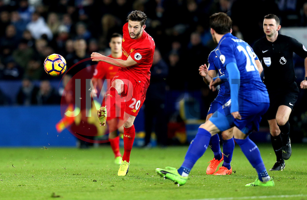 Adam Lallana of Liverpool passes the ball - Mandatory by-line: Robbie Stephenson/JMP - 27/02/2017 - FOOTBALL - King Power Stadium - Leicester, England - Leicester City v Liverpool - Premier League