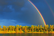 Rainbow and forest <br />Yorkton<br />Saskatchewan<br />Canada