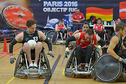 France V NZL at the 2016 IWRF Rio Qualifiers, Paris, France