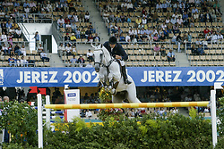 Eriksson Peter, SWE, VDL Cardento<br /> World Equestrian Games Jerez de la Fronteira 2002<br /> Photo © Dirk Caremans