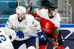 Anze Kopitar of Slovenia and Krisztian Nagy of Hungary during ice hockey match between Hunngary and Kazakhstan at IIHF World Championship DIV. I Group A Kazakhstan 2019, on May 3, 2019 in Barys Arena, Nur-Sultan, Kazakhstan. Photo by Matic Klansek Velej / Sportida