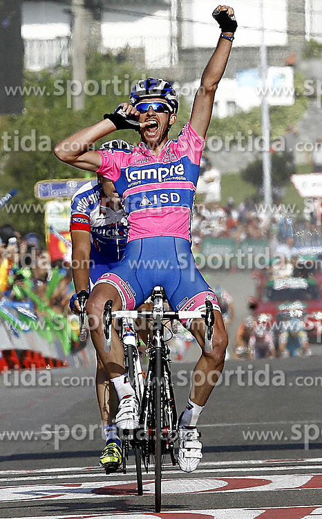 09.09.2011, Andalusien, ESP, LA VUELTA 2011, 18. Etappe, im Bild Francesco Gavazzi celebrates during the stage of La Vuelta 2011 between Solares and Noja.September 8,2011. EXPA Pictures © 2011, PhotoCredit: EXPA/ Alterphoto/ Paola Otero +++++ ATTENTION - OUT OF SPAIN/(ESP) +++++
