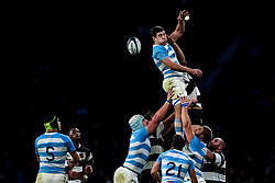 Guido Petti of Argentina wins the ball at a line out - Mandatory by-line: Robbie Stephenson/JMP - 01/12/2018 - RUGBY - Twickenham Stadium - London, England - Barbarians v Argentina - Killick Cup
