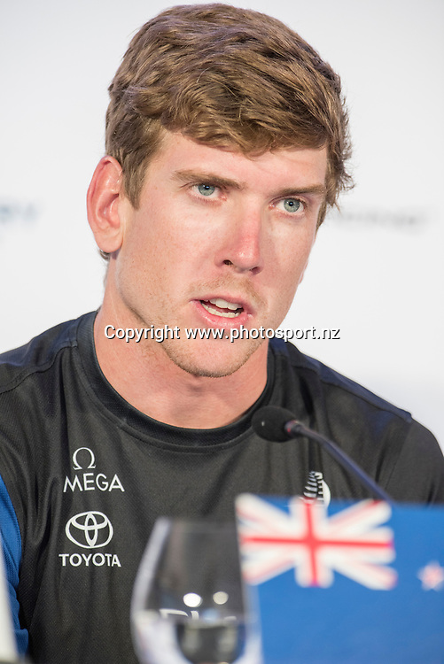 Emirates Team New Zealand helmsman Peter Burling. Press conference. Day three of the America's Cup Qualifiers, Bermuda 29/5/2017 . Copyright Image: Chris Cameron / www.photosport.nz