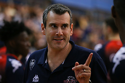 Bristol Flyers head coach Andreas Kapoulas<br /> - Photo mandatory by-line: Arron Gent/JMP - 28/09/2019 - BASKETBALL - Crystal Palace National Sports Centre - London, England - London City Royals v Bristol Flyers - British Basketball League Cup