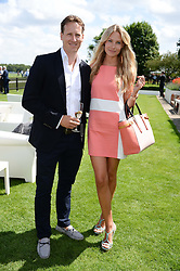 BRENDAN COLE and his wife ZOE at the Audi International Polo at Guards Polo Windsor Great Park, Egham, Surrey on 28th July 2013.