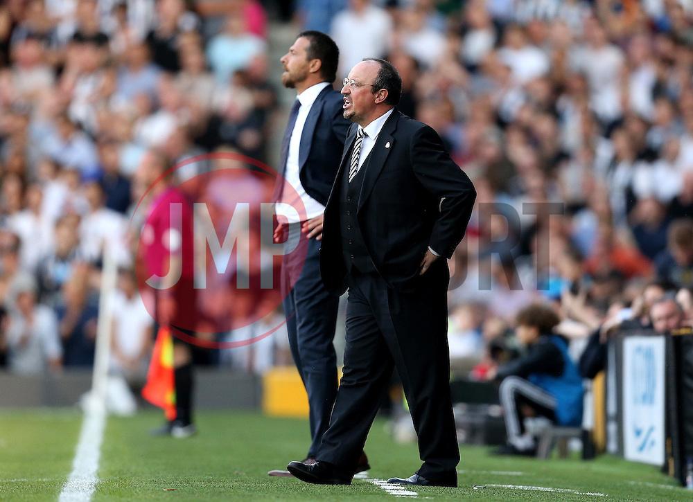 Rafa Benitez manager of Newcastle United and Slavisa Jokanovic manager of Fulham prowl the touchlines - Mandatory by-line: Robbie Stephenson/JMP - 05/08/2016 - FOOTBALL - Craven Cottage - Fulham, England - Fulham v Newcastle United - Sky Bet Championship