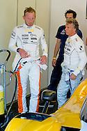 ZANDVOORT - Prins Bernhard van Oranje  met Jan Lammers tijdens de max verstappen familie dagen . copyright robin utrecht