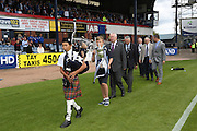 Flag raising party take to the pitch - Dundee v Kilmarnock - SPFL Premiership at Dens Park<br /> <br />  - &copy; David Young - www.davidyoungphoto.co.uk - email: davidyoungphoto@gmail.com