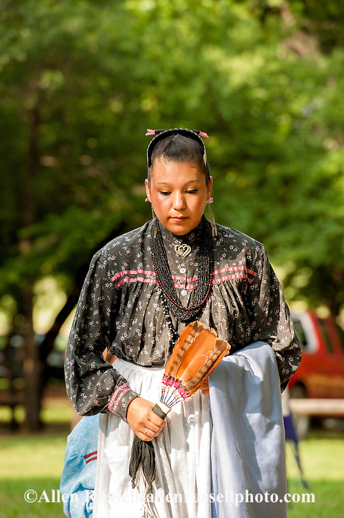 Teenager, dancer, Murrow Powwow, Caddo Nation, Indians, Native Americans, Binger, Oklahoma