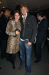 Actor KRIS MARSHALL and KELLY EASTWOOD at a party to launch Three's A Crowd held at the Mayfair Hotel, Berkley Street, London on 5th December 2006.<br />