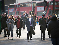 © Licensed to London News Pictures. 06/02/2018. London, UK. Keith Cochrane, interim Chief Executive of Carillion, walks to Portcullis House in London where former bosses of the collapsed firm are due to give evidence to a Business, Energy and Industrial Strategy Committee and the Work and Pensions Committe. Carillion plc, a major government contractor, went in to administration in January 2018. Photo credit: Peter Macdiarmid/LNP