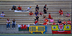 LOS ANGELES, USA - Saturday, May 26, 2018: Wales supporters during a training session at the UCLA Drake Track and Field Stadium ahead of the International friendly match against Mexico. (Pic by David Rawcliffe/Propaganda)