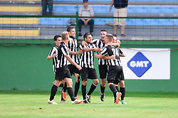The players of ND Mura celebrate during the football match between ND Mura and ND Gorica in 1st Round of Pokal Slovenije 2015/16, at Fazanerija on August 19, 2015 in Murska Sobota, Slovenia. Photo by Mario Horvat / Sportida