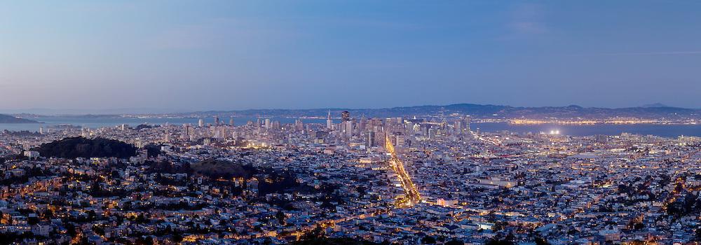 San Francisco Cityscape. (18023 x 6306 pixels)
