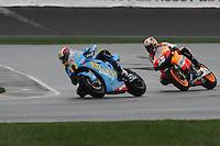 Ben Spies, Dani Pedrosa, Red Bull Indianapolis Moto GP, Indianapolis Motor Speedway, Indianapolis, Indiana, USA, 14, September 2008  08mgp14
