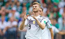 MOSCOW, RUSSIA - Sunday, June 17, 2018: Germany's Timo Werner looks dejected after missing a chance during the FIFA World Cup Russia 2018 Group F match between Germany and Mexico at the Luzhniki Stadium. (Pic by David Rawcliffe/Propaganda)