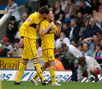 Photo: Daniel Hambury.<br />Crystal Palace v Burnley. Coca Cola Championship. 26/08/2006.<br />Burnley's Alan Mahon (R) celebrates his goal 0-1.