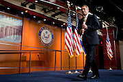 """Speaker of the House JOHN BOEHNER speaks to the media on Thursday about the recently passed """"Cut Cap and Balance"""" budget plan in the House of Representatives."""