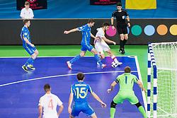 Andrii Khamdamov of Ukraine during futsal quarterfinal match between National teams of Ukraine and Spain at Day 8 of UEFA Futsal EURO 2018, on February 6, 2018 in Arena Stozice, Ljubljana, Slovenia. Photo by Urban Urbanc / Sportida