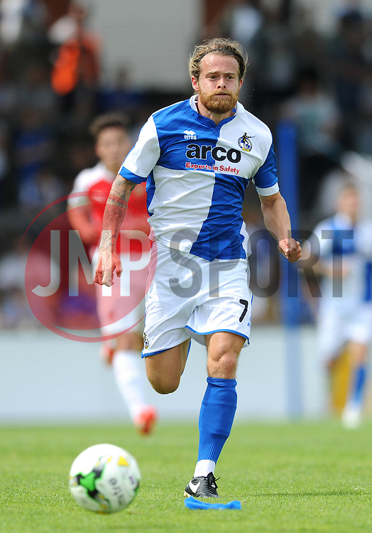 Stuart Sinclair of Bristol Rovers - Photo mandatory by-line: Dougie Allward/JMP - Mobile: 07966 386802 - 18/07/2015 - SPORT - Football - Bristol - Memorial Stadium - Pre-Season Friendly