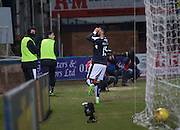 Dundee&rsquo;s Kane Hemmings celebrates his goal - Dundee v Dumbarton, William Hill Scottish Cup Fifth Round at Dens Park<br /> <br />  - &copy; David Young - www.davidyoungphoto.co.uk - email: davidyoungphoto@gmail.com