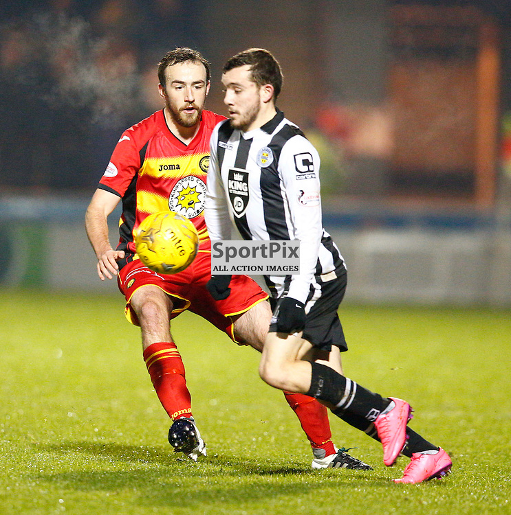 St.Mirren v Partick Thistle, Scottish Cup 4th round...Paul McMullan and Sean Welsh battle for the ball......(c) STEPHEN LAWSON | SportPix.org.uk