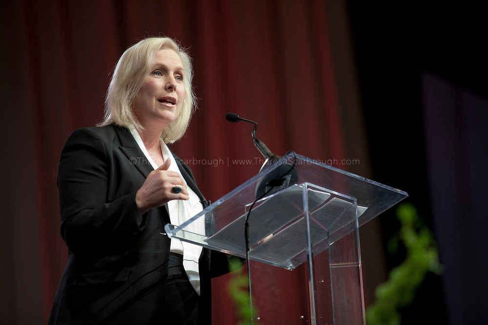 Detroit, Michigan, USA. 27th Oct, 2017. Senator Kristen Gillibrand speaks during the Women's Convention held at the Cobo Center, Detroit Michigan, Friday, October 27, 2017
