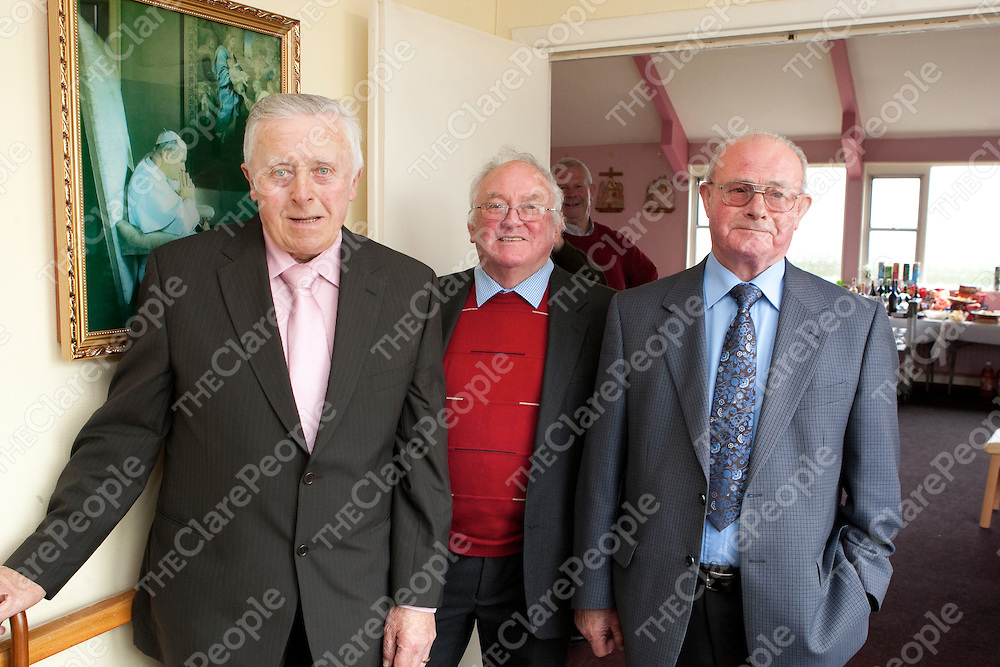 Pictured at Regina House in Kilrush Co Clare 40th Anniversary celebrations were:<br /> P J Boyle, Brendan Egan &amp; Danny Sullivan.<br /> Pictured Credit Brian Gavin Press 22
