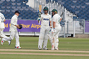 50 - Mark Cosgrove acknowledges the crowd on reaching 50 during the Specsavers County Champ Div 2 match between Durham County Cricket Club and Leicestershire County Cricket Club at the Emirates Durham ICG Ground, Chester-le-Street, United Kingdom on 21 August 2019.